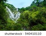 heart shaped waterfall ... | Shutterstock . vector #540410110