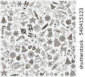 set of black hand drawn... | Shutterstock . vector #540415123
