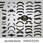 big set of 50 hand drawn black... | Shutterstock . vector #540415144