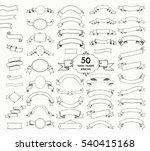big set of 50 hand drawn black... | Shutterstock . vector #540415168