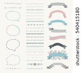 set of colorful hand drawn... | Shutterstock . vector #540415180