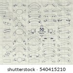 big set of 50 hand drawn doodle ... | Shutterstock . vector #540415210