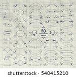big set of 50 hand drawn doodle ... | Shutterstock . vector #540415210