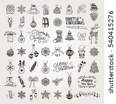 set of black hand drawn... | Shutterstock . vector #540415276