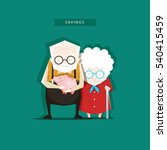 grandparents keep their savings ... | Shutterstock .eps vector #540415459