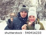 group of young people with... | Shutterstock . vector #540416233