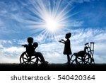 children with disabilities in...   Shutterstock . vector #540420364