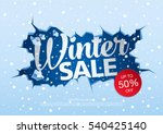 winter sale banner  vector... | Shutterstock .eps vector #540425140