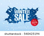 winter sale banner  vector... | Shutterstock .eps vector #540425194
