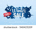 Winter Sale Banner  Vector...