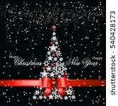 christmas tree from beautiful...   Shutterstock .eps vector #540428173