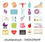 conceiving child and pregnancy  ... | Shutterstock .eps vector #540429649