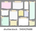 paper torn page notes. blank... | Shutterstock .eps vector #540429688