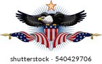 american eagle with usa flags  | Shutterstock .eps vector #540429706