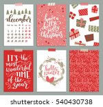 collection of christmas poster ... | Shutterstock . vector #540430738