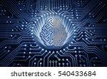 cybernetic brain. electronic... | Shutterstock . vector #540433684