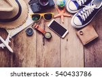 travel accessories costumes.... | Shutterstock . vector #540433786