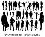 woman and man silhouettes | Shutterstock .eps vector #540435253