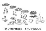 set of painted items for menu   ... | Shutterstock .eps vector #540440008
