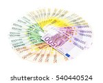 Circle Of Euro Banknotes Money...