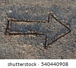 drawing arrow in the sand on... | Shutterstock . vector #540440908