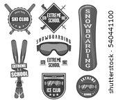 vintage snowboarding or winter... | Shutterstock .eps vector #540441100