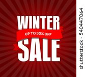 winter sale badge  label  promo ... | Shutterstock .eps vector #540447064