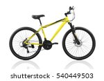 yellow bicycle isolated on a... | Shutterstock . vector #540449503