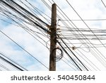 chaotic mess of a wires on a... | Shutterstock . vector #540450844