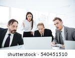 portrait of shocked business... | Shutterstock . vector #540451510