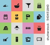 set of 16 editable cook icons.... | Shutterstock .eps vector #540451840