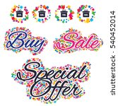 sale confetti labels and... | Shutterstock .eps vector #540452014