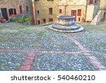 Stone Paved Square And Medieva...