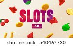 777 slots 3d element isolated... | Shutterstock .eps vector #540462730