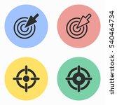 target vector icons set.... | Shutterstock .eps vector #540464734
