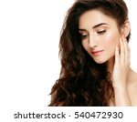 beautiful woman face close up... | Shutterstock . vector #540472930