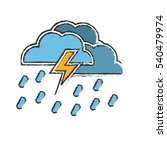 electric storm weather related... | Shutterstock .eps vector #540479974