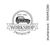 retro car repair workshop black ... | Shutterstock .eps vector #540492280