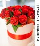 red roses in white box | Shutterstock . vector #540505264