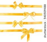 set of four golden ribbon gift... | Shutterstock . vector #540509488
