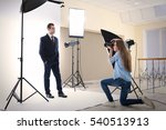 photographer taking picture of  ... | Shutterstock . vector #540513913