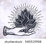 ornate old fashioned hand with... | Shutterstock .eps vector #540515908