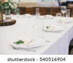 served wedding table | Shutterstock . vector #540516904