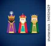 three wise men  magic kings ... | Shutterstock .eps vector #540524629
