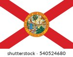 florida state flag  usa. vector ... | Shutterstock .eps vector #540524680