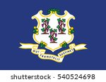 connecticut state flag  usa.... | Shutterstock .eps vector #540524698