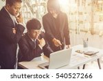 team works. young businessmans... | Shutterstock . vector #540527266