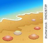 vector illustration. sea and... | Shutterstock .eps vector #540528739