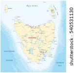 vector map of the australian... | Shutterstock .eps vector #540531130