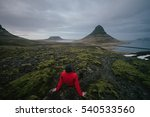 Kirkjufell  And Person